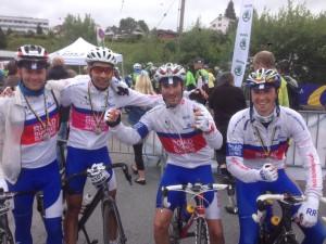 Baard Andre, meg, Alexis og Dag godt over middels fornøyde etter målpassering!
