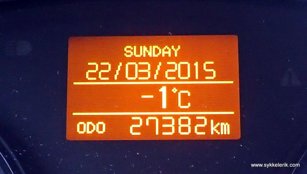 Ved Tryvann vinterpark var temperaturen én blå. Med andre ord, HTFU.