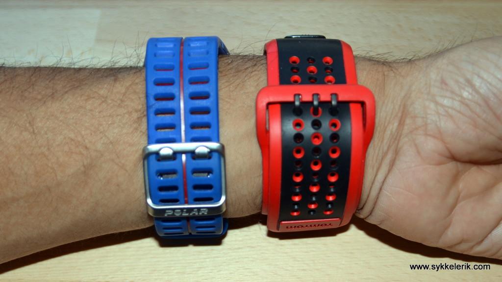 Tomtom Multisport Cardio har en ganske tykk og bred reim som sitter godt.