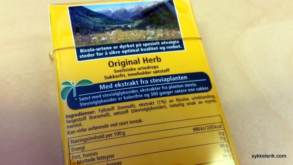 Riccola med svetsiske urter og stevia setter fart på magen ved stort inntak (hele pakken på 10 minutter).