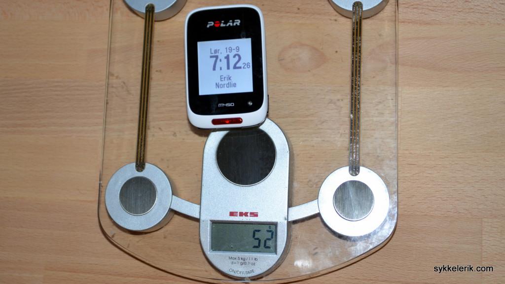Polar M450 veier 52 gram.